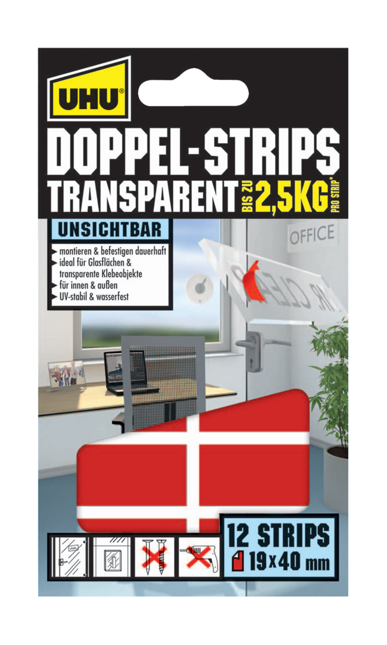 DOPPELSTRIPS TRANSPARENT